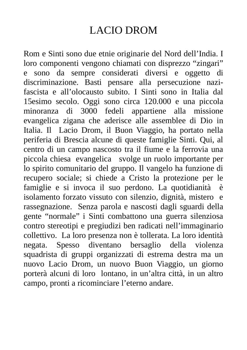 CLAUDIO RIZZINI-LACIO DROM-1