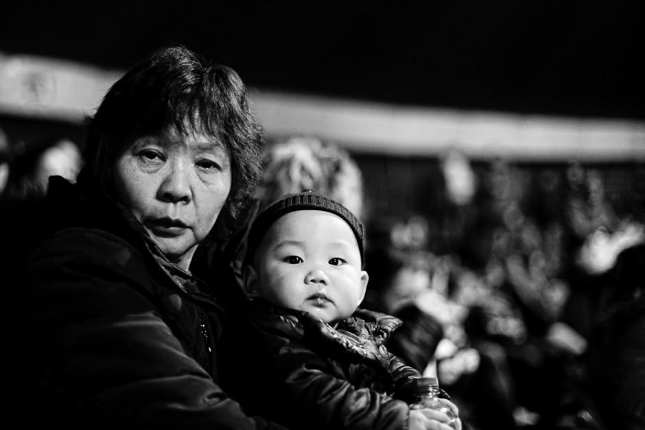 Madre e figlio al circo